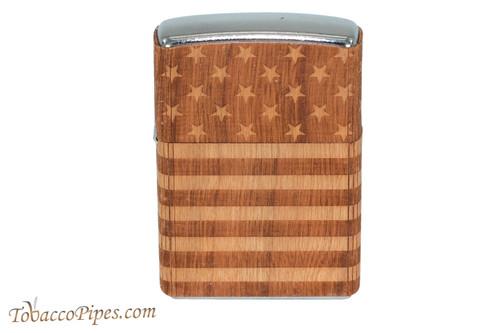 Zippo Woodchuck USA Flag Wrap Lighter