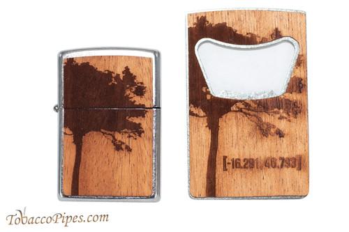 Zippo Woodchuck USA Lighter and Bottle Opener Set