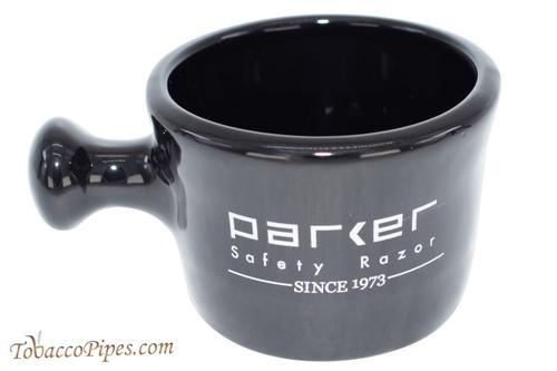 Parker Stoneware Apothecary Black Shave Mug