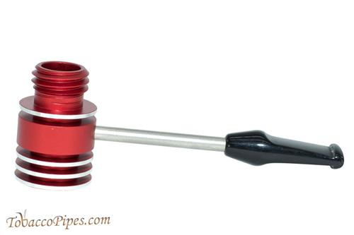 Radiator Pipes Stubby Straight Tobacco Pipe Frame Polished Red