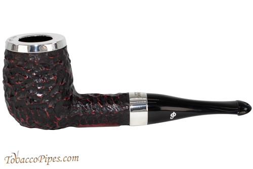 Peterson House Pipe Rustic Billiard Silver Cap Tobacco Pipe - PLIP