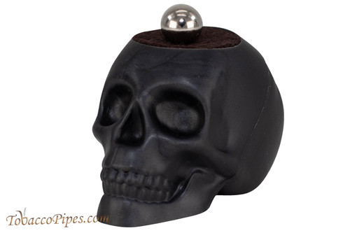 Woodwater Black Magnetic Skull Pipe Stand