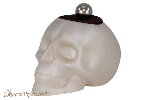 Woodwater White Magnetic Skull Pipe Stand