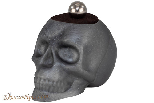Woodwater Gray Magnetic Skull Pipe Stand