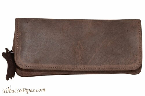 Savinelli Brown Suede Combo Pouch
