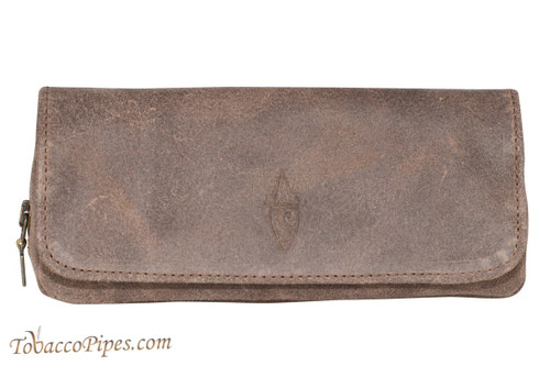Savinelli Gray Suede Combo Pouch