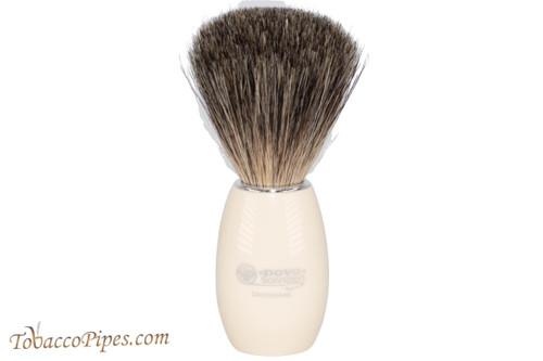 Dovo 918118 White Acrylic Pure Badger Shave Brush