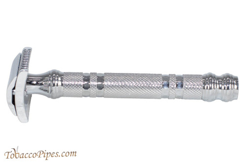 Parker Chrome Open Comb Three Piece Double Edge Safety Razor
