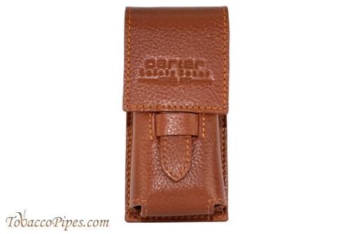 Parker Brown Leather Shaving Brush Travel Case