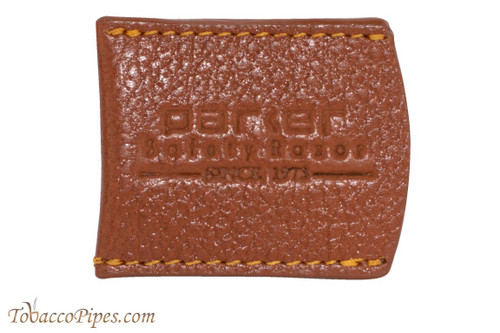Parker Brown Leather Safety Razor Cover