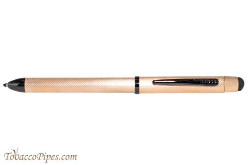 Cross Tech3 Brushed Rose Gold Multifunction Black Pen