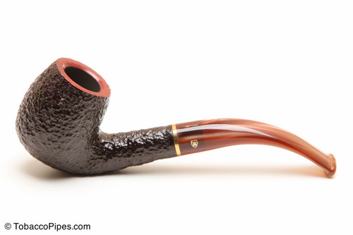 Savinelli Roma Rustic 602 Lucite Stem Tobacco Pipe Left Side