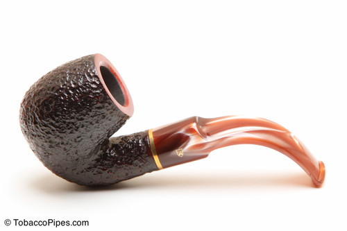 Savinelli Roma Rustic 614 Lucite Stem Tobacco Pipe Left Side