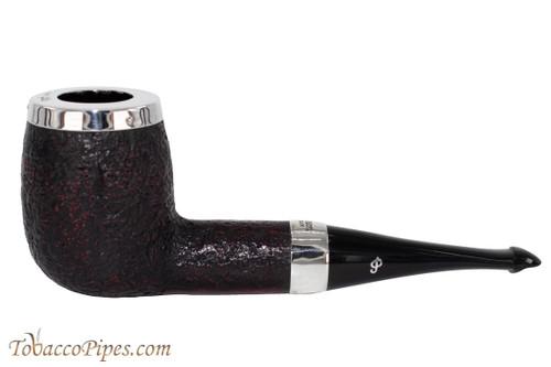 Peterson House Pipe Sandblast Billiard Silver Cap Tobacco Pipe PLIP