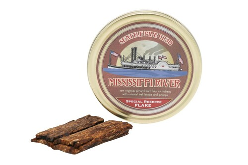 Seattle Pipe Club Mississippi River Special Reserve Flake Pipe Tobacco