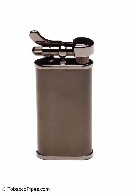Kiribi Kabuto Black Nickel Pipe Lighter Front