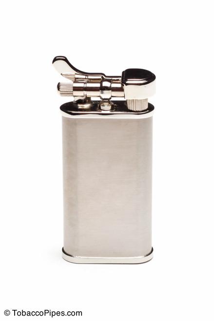 Kiribi Kabuto Silver Satin Pipe Lighter Front