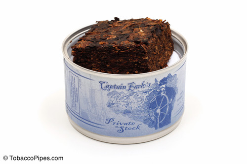 Captain Earle's Private Stock 2oz Pipe Tobacco Open