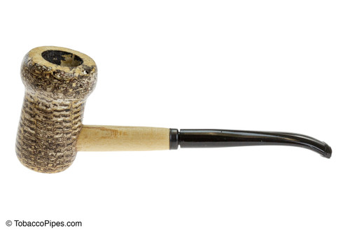 Missouri Meerschaum Patriot Corncob Tobacco Pipe Bent Left Side