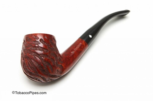 Dr Grabow Full Bent Rustic Tobacco Pipe Left Side
