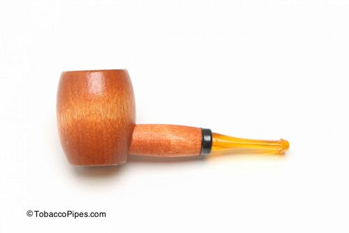 Missouri Meerschaum Ozark Mini Maple Hardwood Tobacco Pipe Straight Left Side