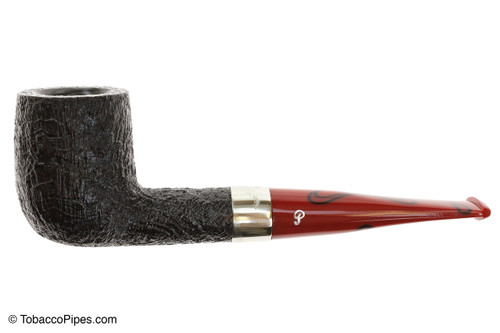 Peterson Dracula X105 Sandblast Fishtail Tobacco Pipe Left Side