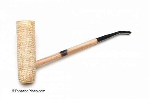 Missouri Meerschaum MacArthur Polished Corncob Tobacco Pipe Left Side