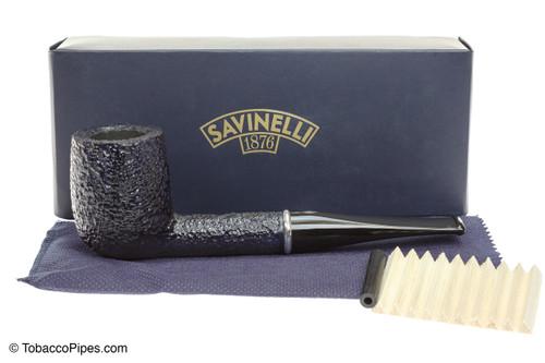 Savinelli Arcobaleno 111 Blue Tobacco Pipe - Rustic