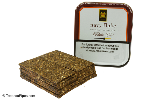 Mac Baren Navy Flake Pipe Tobacco - Flake Cut