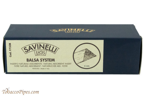 Savinelli 6mm Balsa Filters - 300 count Filters Front