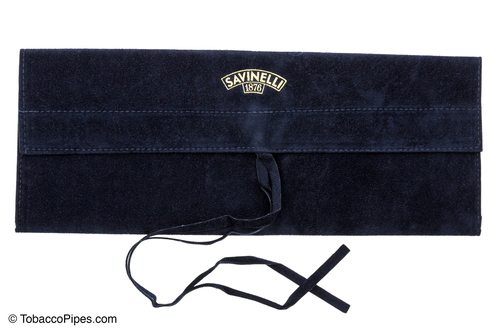 Savinelli Long Velvet Pipe Pouch - Blue