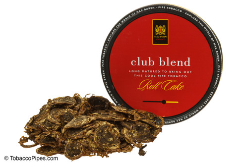 Mac Baren Club Blend Pipe Tobacco 3.5 oz - Roll Cake