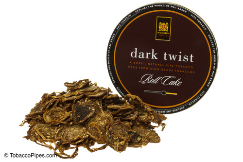 Mac Baren Dark Twist Pipe Tobacco 3.5 oz - Roll Cake