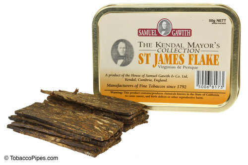 Samuel Gawith Mayor's Collection St. James Flake Pipe Tobacco Tin - 50g