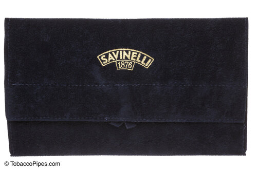 Savinelli Velvet Tobacco Pipe Pouch - Blue