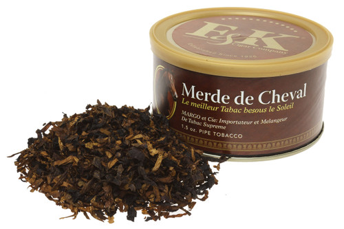 F & K Merde de Cheval Pipe Tobacco Tin - 1.5 oz