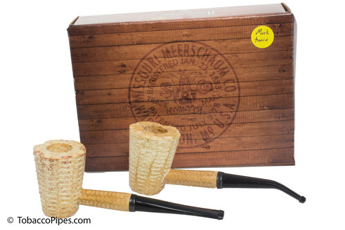 Missouri Meerschaum Mark Twain 2-Corncob Pipe Gift Set