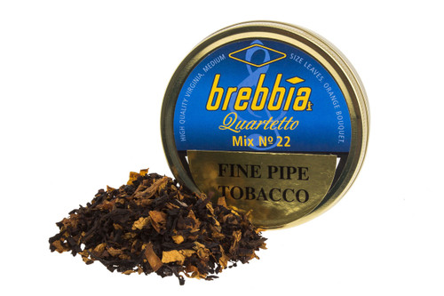 Brebbia Quartetto Mix No. 22 Pipe Tobacco Tin - 50g