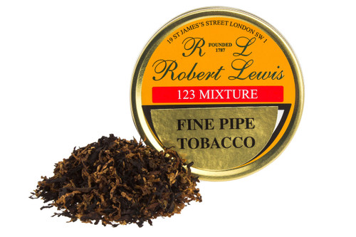 Robert Lewis 123 Mixture Pipe Tobacco Tin - 50g