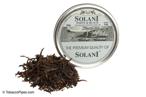 Solani White & Black Blend No. 763 Pipe Tobacco Tins