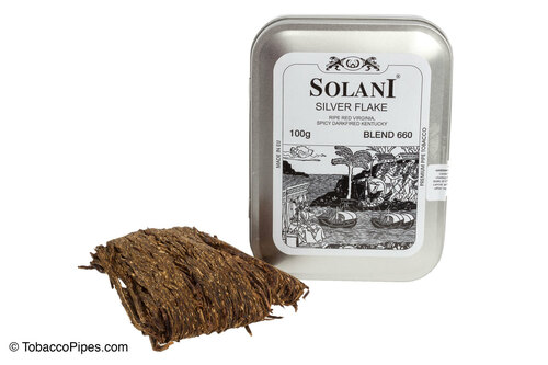 Solani Silver Flake Blend No. 660 Pipe Tobacco Tin - 100g