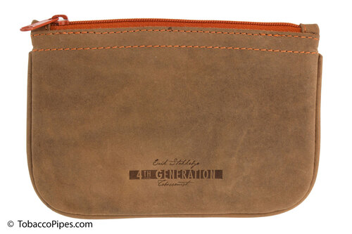 4th Generation Zipper Tobacco Pouch - Hunter Brown Front
