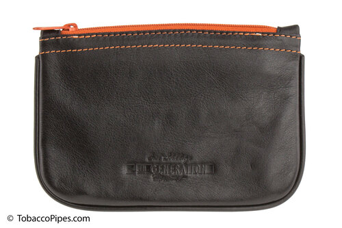 4th Generation Zipper Tobacco Pouch - Black Front