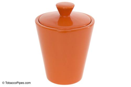 Savinelli Orange Ceramic Tobacco Jar