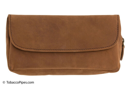 4TH Generation Single Combo Tobacco Pouch - Hunter Brown Front