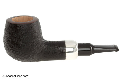 Rattray's Chubby Jackey Nickel Tobacco Pipe - Sandblast Left Side