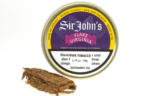 John Aylesbury Sir John's Flake Virginia Pipe Tobacco - 50 g - Unsealed