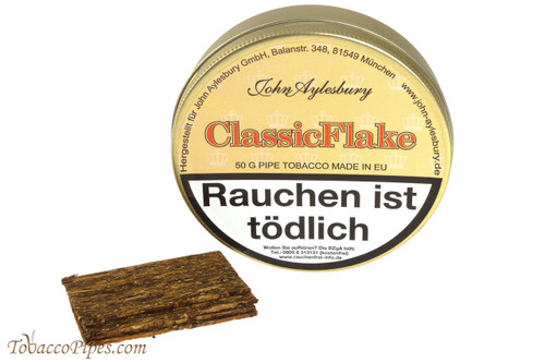 John Aylesbury Classic Flake (Luxury Flake) Pipe Tobacco - 50 g