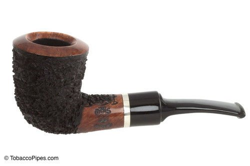 OMS Pipes KT209 Fieldmaster Dublin Tobacco Pipe - Silver Band Left Side