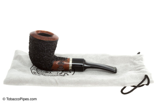 OMS Pipes KT209 Fieldmaster Dublin Tobacco Pipe - Silver Band